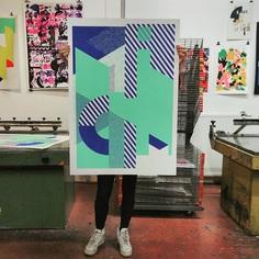 The 'legged' poster.. #screenprint on #olin #antalis #screenprinting #printmaking #printisnotdead #printmakers #silkscreen #printstudio #printspotters #serigraphy #print #design #printart #screenprintinglife #printedmatter #printspotters #print #design