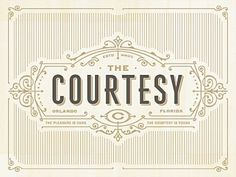 the courtesy #logo #courtesy #branding