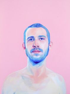Bubblegum paintings by Jen Mann #people #pink #bubblegum #paint illustration