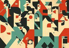 Iv Orlov | Allan Peters' Blog #design #color #geometric #people #illustration #iv #orlov
