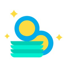 See more icon inspiration related to clean, furniture and household, miscellaneous, dishes, plates, wash, cleaning and washing on Flaticon.