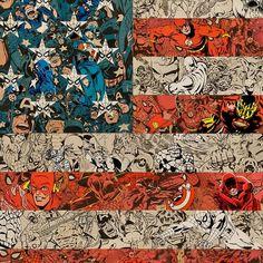 Ben Turnbull's Real Life Superheroes | Yatzer #flag #america #superhero #collage