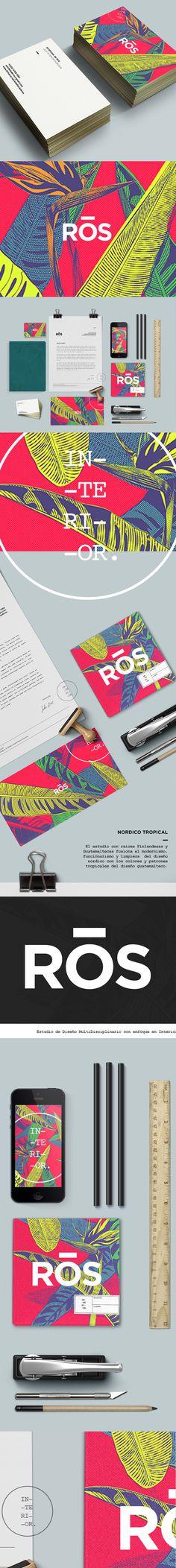 Ros Interior Design on Behance #design #identity