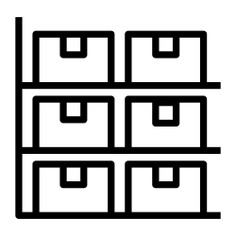 See more icon inspiration related to shelf, full, inventory, shipping and delivery, furniture and household, stored, storage, furniture and boxes on Flaticon.