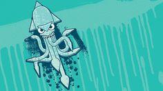 Illustration : Miguel Ibarra #ibarra #design #illustration #squid #miguel