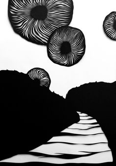LaPlanche Design | Hermes #hand cut #drawings #black and white