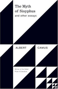 The Book Cover Archive: The Myth of Sisyphus, design by Helen Yentus #grid #triangle #white #black