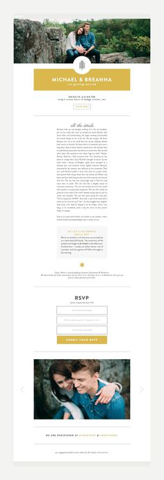 Michael & Breanna Wedding | Design by Rowan Made #wedding #branding #invitation
