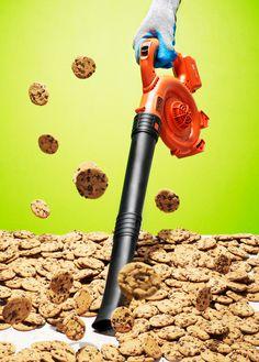 leaf blower, cookies