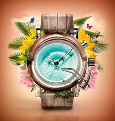 Design for fun #flower #clock #vacation