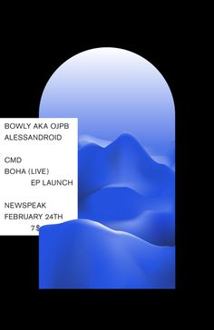 Poster for Boha's EP launch