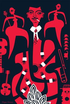 swingjazz #jazz #illustration #hands #music #instruments