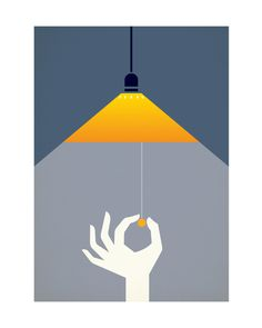 Image of Please Turn Out The Light #print #design #graphic #illustration #poster