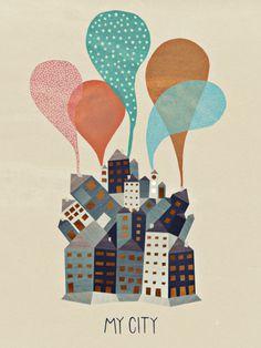 Michelle Carlslund Illustration: My City