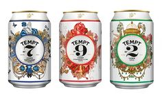 Tempt Cider - TheDieline.com - Package Design Blog #packaging #cider