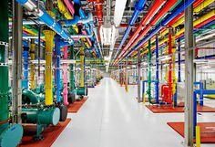 Google Data Center #color #google #pipes #data center