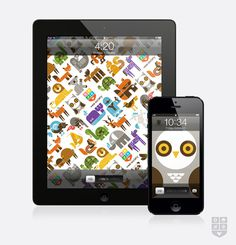 wee_background_ipad_iphone #animals #illustration #app #typography