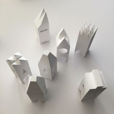 white buildings models