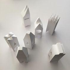 white buildings models