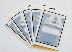 """f0rget-it: """" Screencaptures Zine Volume One — possibly for sale soon depending on if there's interest? """""""