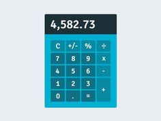 Flat calculator #flat #gui