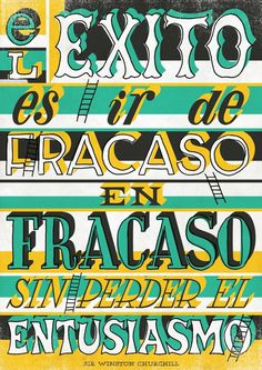 Winston Churchill spanish Quote | 2012 Poster Book #quote #2012 #book #poster #22dg #typography