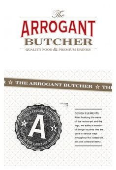 The Arrogant Butcher Design & Ad Work | TunnelBravo #logo #classic #red #gold