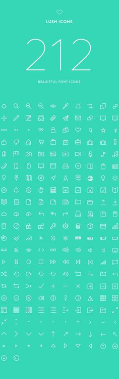 Lush Icons: 212 Beautiful Font Icons on Behance