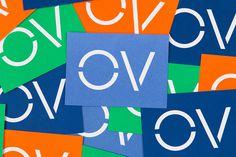 Openview branding corporate design blue Pentagram UK England London Mindsparkle Mag stationery blue marine typography designer business card