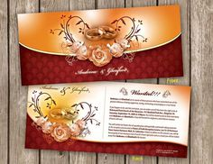 Wedding Invitation Card and Envelop