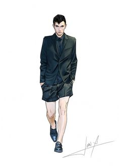 b07206466e8663332827cd04aa9135b3.jpg (JPEG Image, 600 × 833 pixels) #fashion #illustration #men #mugler