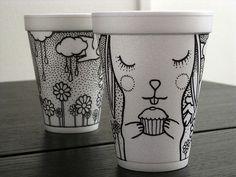 Coffee Cup Art – Fubiz™ #illustration #cup #coffee #cute