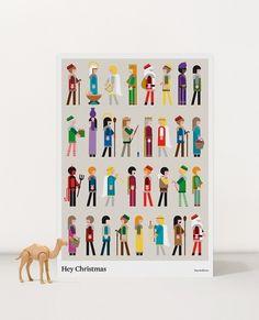 Hey Christmas #christmas #illustration #poster