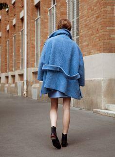 fashion, blue, coat
