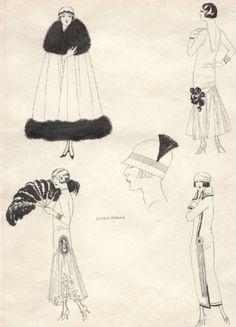 coqueterías - (via misswallflower) #fashion #illustration #vintagee