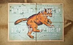 Design Work Life » Brandt Brinkerhoff: Dip Dust-up Collateral #invitation