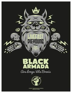 Live Fast / Die Young on Behance #armada #illustration #black #poster