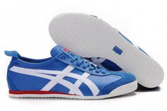 Mens Onitsuka Tiger Mexico 66 Blue White Shoes #shoes