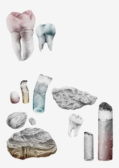 TÄNDER : Sara Andreasson #teeth #stone #cigarette #drawing #illustration #gradient #pencil