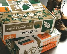 Tracker Tecs | Lovely Package #packaging #camouflage #hunting #shoe