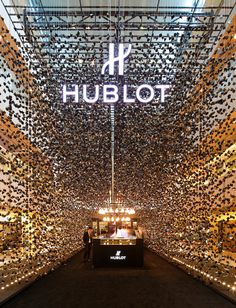 Hublot's first pop-up store by Asylum #interior #lighting #popup
