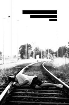 suicidal ideation. -by manuelnieberle. #train #white #nieberle #photo #design #manuel #black #bars #illustration #photography #suicide
