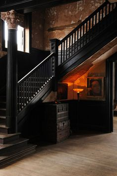 CJWHO ™ #staircase #architecture #black
