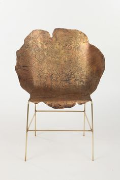 sharon sides: acid etched metal stump #furntiture
