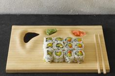 The Bamboo Sushi Tray is a cute tray that adds elegance to a #sushi meal right at #home. #productdesign