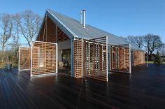 kwint architecten: a barn in the countryside #a #barn #netherlands #kwint #in #architecte #the #by #eelde #countryside