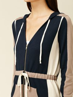 Oonagh by Nanette Lepore Ingmar Colorblock Long Hoodie #fashion #colorblock