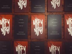 #mikeynitro #personalbranding #graphicdesign #businesscards