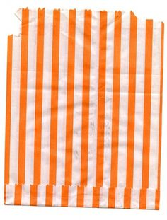 coqueterías #orange #stripes #bag