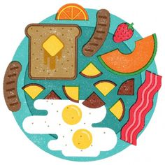 Design Envy · Mikey Burton's Experimental Food Illustration Blog, Barrel Body